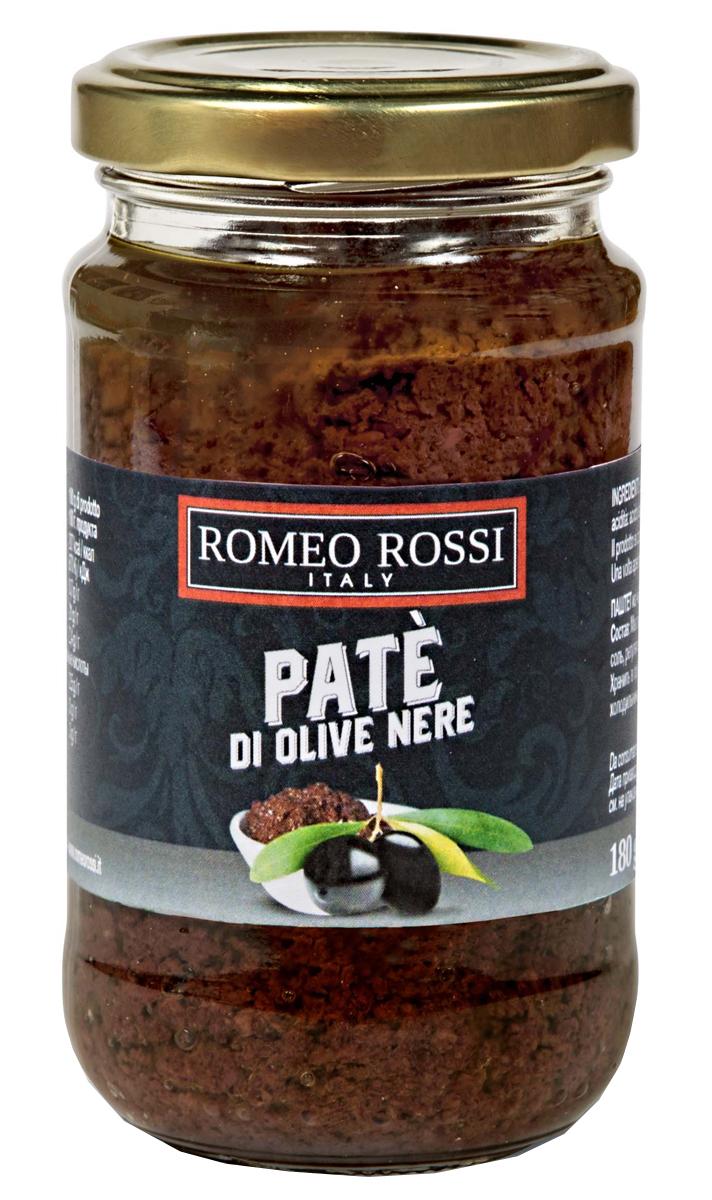 Romeo Rossi паштет из маслин, 180 г delphi маслины с косточкой натуральные в рассоле 350 г