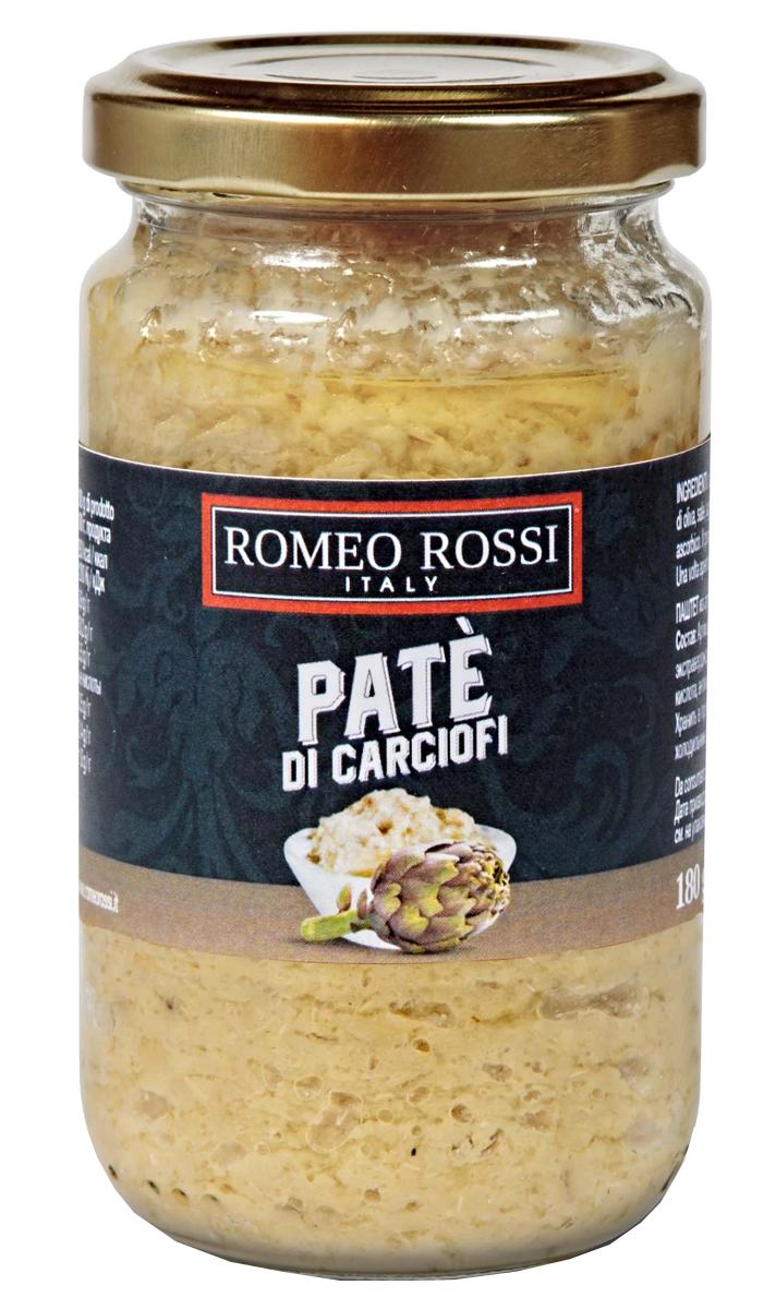 Romeo Rossi паштет из артишоков, 180 г romeo rossi паста яичная 4 яйца строцапрети 500 г