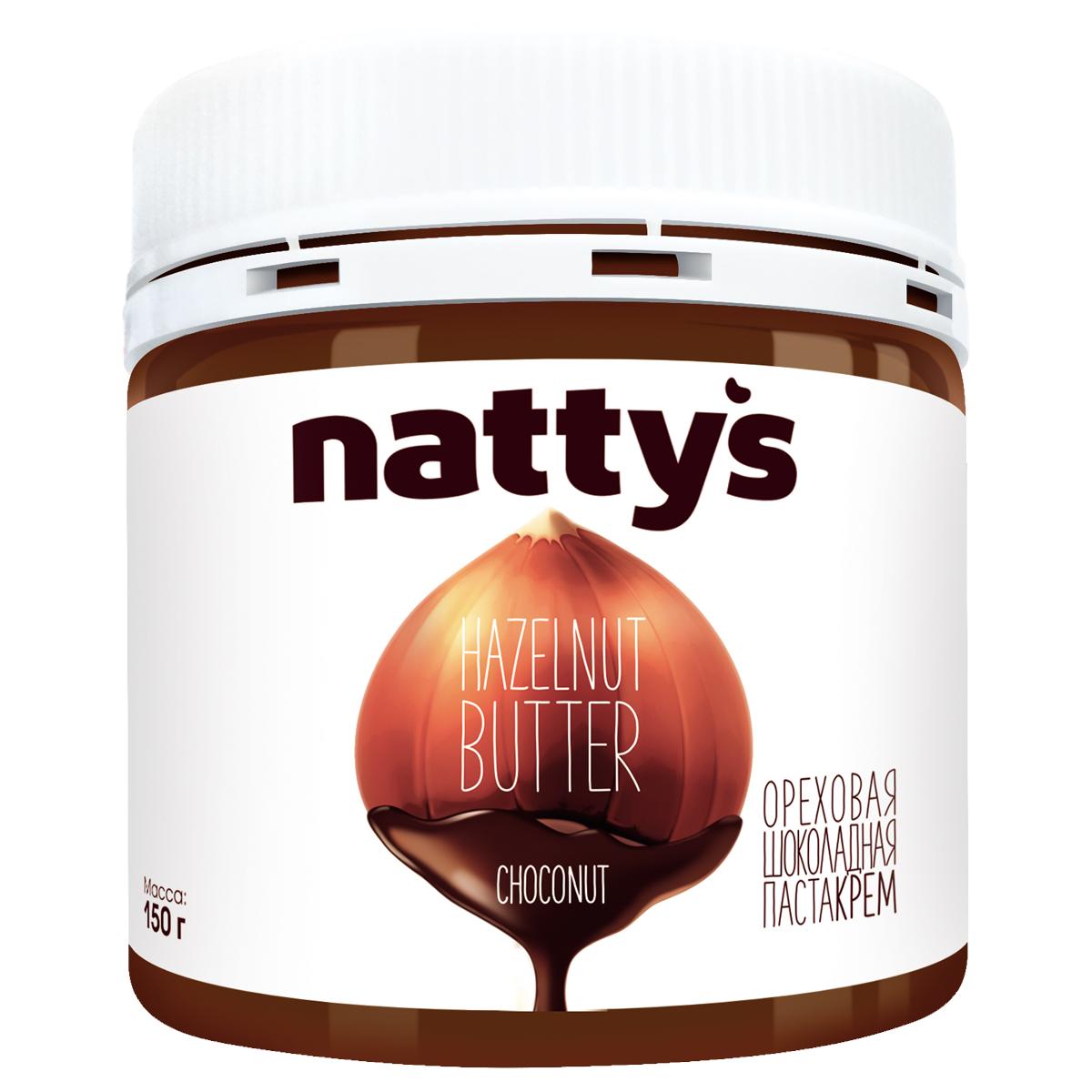 Natty's паста-крем шоколадно-ореховая, 150 г weider протеиновая паста шоколадно ореховая 250 г
