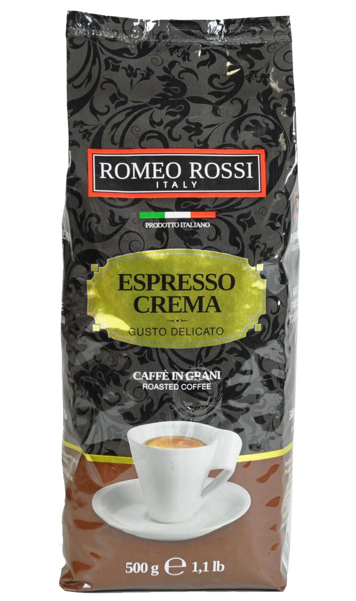 Romeo Rossi кофе в зернах эспрессо крема коричневый, 500 гБ0002805Как известно, в Италии не выращивают кофе. Тем не менее, итальянские кофейные традиции обжарки и приготовления этого божественного напитка - одни из лучших в мире. Вкус и аромат настоящего итальянского эспрессо не оставит Вас равнодушным!Кофе: мифы и факты. Статья OZON Гид