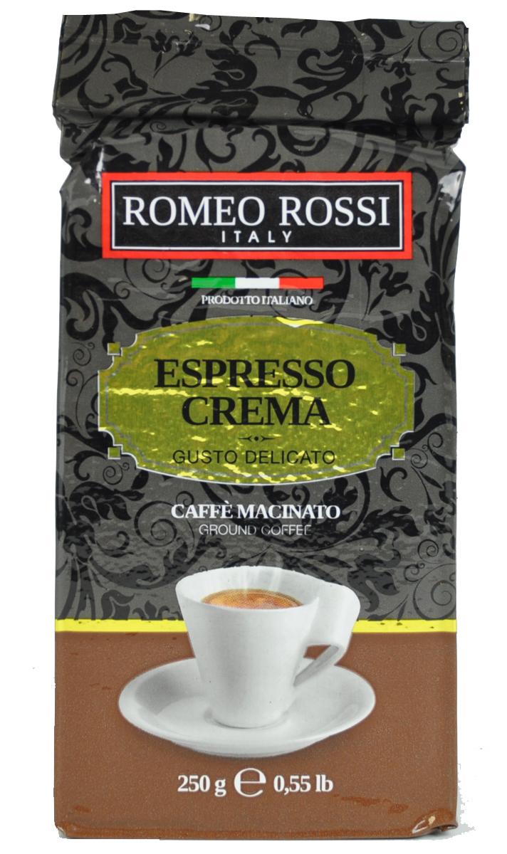Romeo Rossi кофе молотый эспрессо крема коричневый молотый, 250 гБ0002807Как известно, в Италии не выращивают кофе. Тем не менее, итальянские кофейные традиции обжарки и приготовления этого божественного напитка - одни из лучших в мире. Вкус и аромат настоящего итальянского эспрессо не оставит Вас равнодушным!Кофе: мифы и факты. Статья OZON Гид