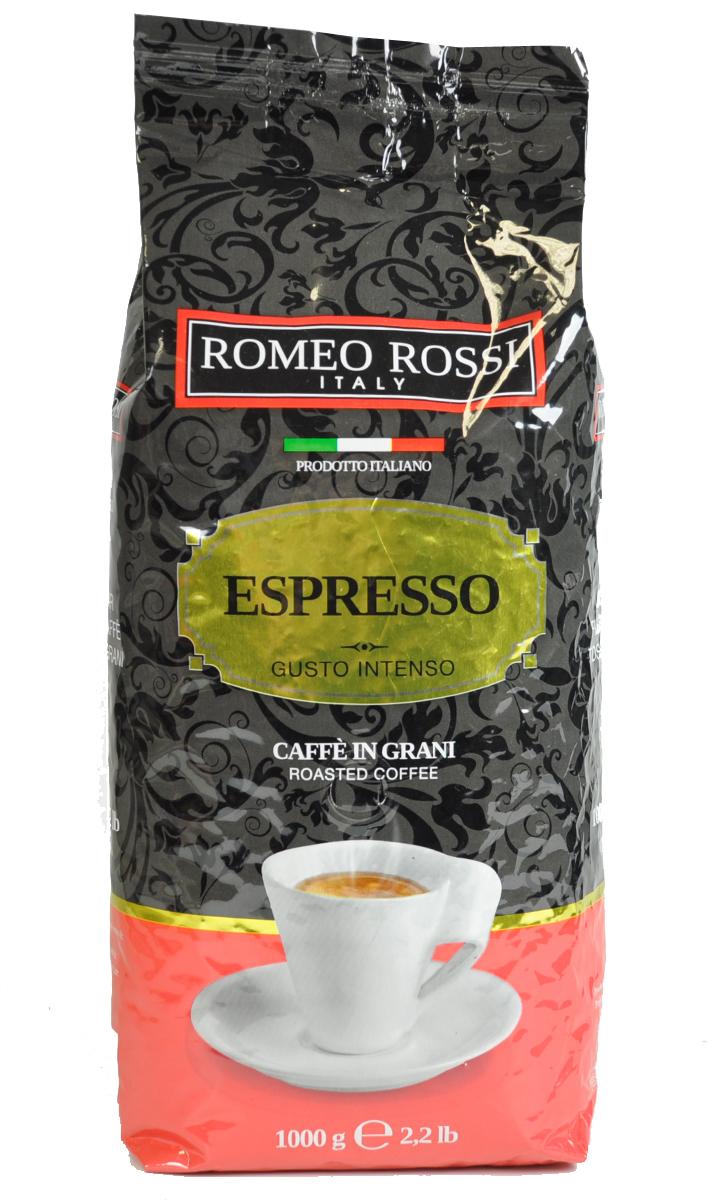 Romeo Rossi кофе в зернах эспрессо интенсо красный, 1 кгБ0002808Как известно, в Италии не выращивают кофе. Тем не менее, итальянские кофейные традиции обжарки и приготовления этого божественного напитка - одни из лучших в мире. Вкус и аромат настоящего итальянского эспрессо не оставит Вас равнодушным!Кофе: мифы и факты. Статья OZON Гид