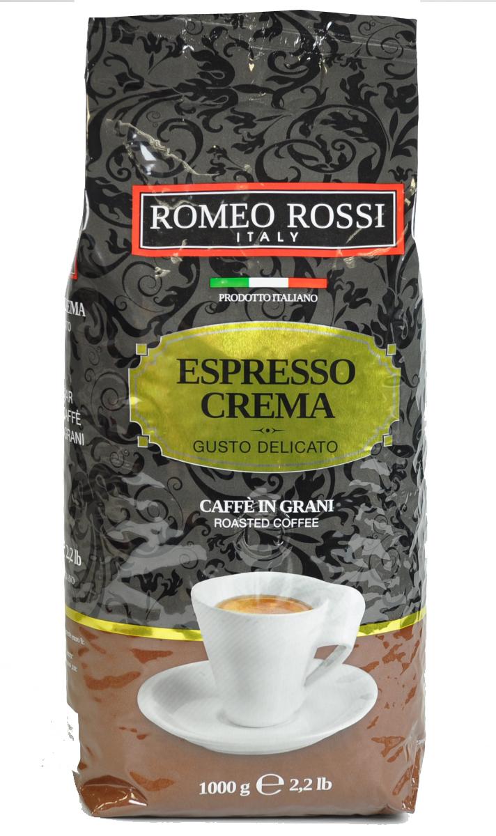 Romeo Rossi кофе в зернах эспрессо крема коричневый, 1 кгБ0002809Как известно, в Италии не выращивают кофе. Тем не менее, итальянские кофейные традиции обжарки и приготовления этого божественного напитка - одни из лучших в мире. Вкус и аромат настоящего итальянского эспрессо не оставит Вас равнодушным!Кофе: мифы и факты. Статья OZON Гид