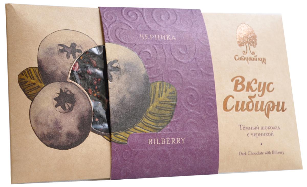 Сибирский Кедр шоколад темный вкус Сибири с черникой, 100 г ritter sport мята шоколад темный с мятной начинкой 100 г