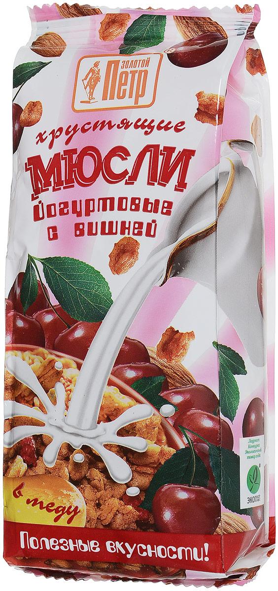 Золотой Петр мюсли в меду со вкусом йогурт-вишня, 250 г