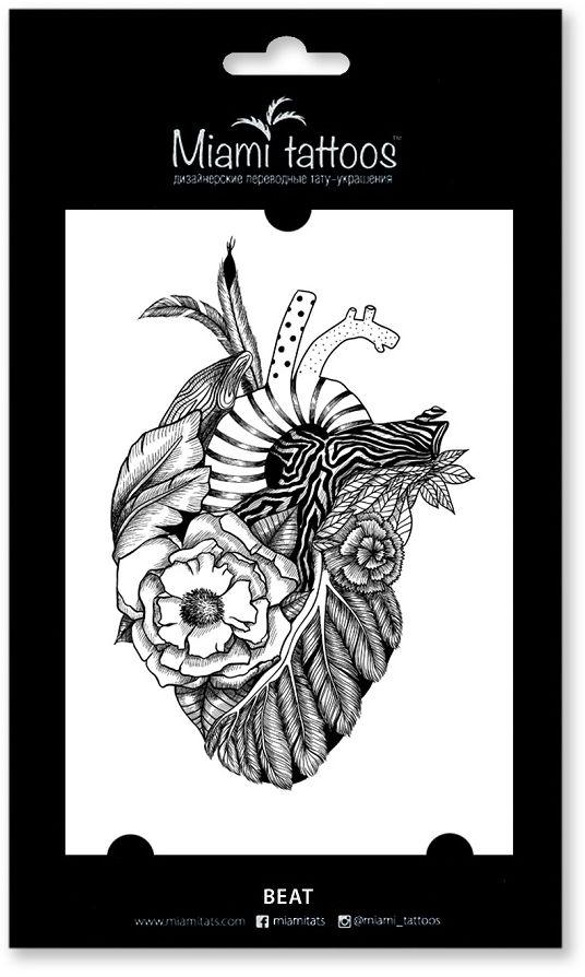 Miami Tattoos Переводные тату Beat, 1 лист, 10 см х 15 см