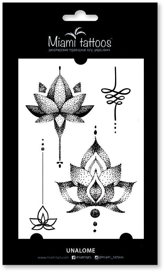 Miami Tattoos Переводные тату Unalome, 1 лист, 10 см х 15 см тату рукава в владимире