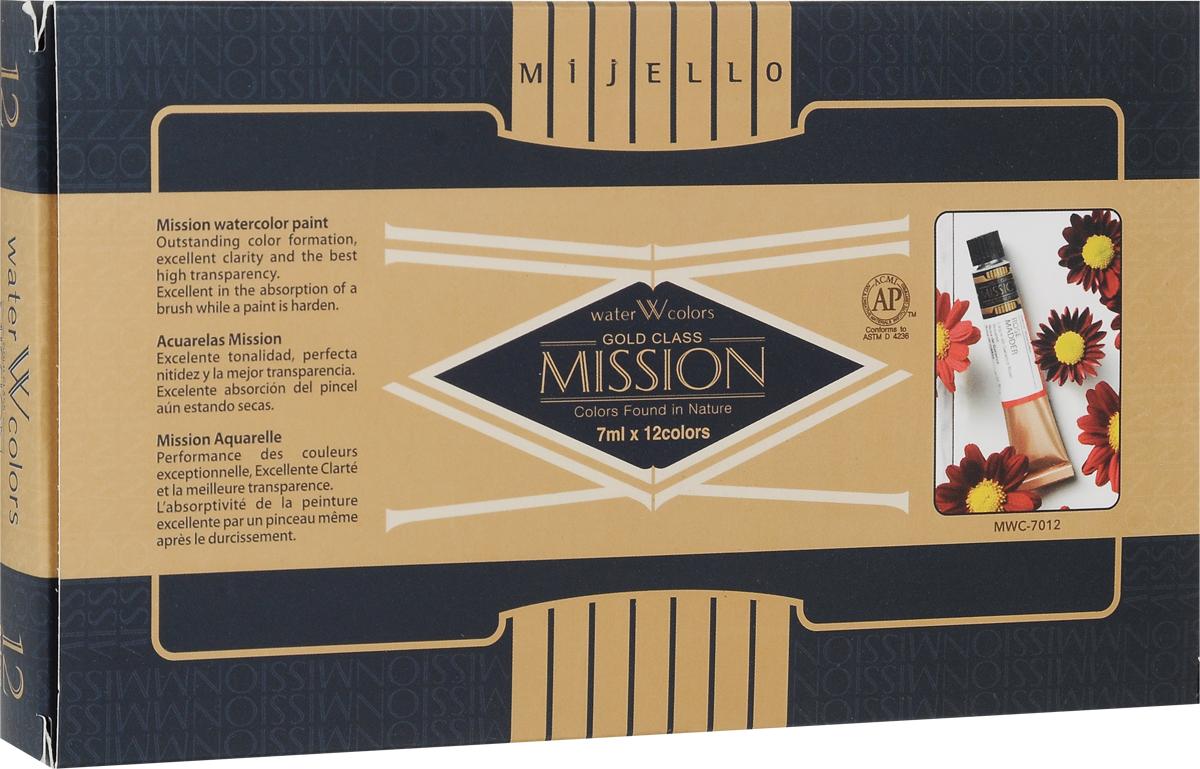 Mijello Набор акварели Mission Gold 7 мл 12 цветов MWC-7012MWC-7012Серия акварельных красок Корейского производителя Mijello - Mission Gold состоит из 105 цветов. Эта серия акварели была создана компанией Mijello в сотрудничестве с экспертами в области акварельной живописи. Цвета акварели серии Mission Gold это смеси высококачественных пигментов тонкого помола с высококачественными компонентами и гуммиарабиком. Используйте краски Mijello серии Mission Gold для акварельной живописи по мокрому, они идеально подойдут для подобной техники работы с акварелью. Акварель Mijello Mission Gold будет отличным выбором как начинающему художнику, так и профессионалу.