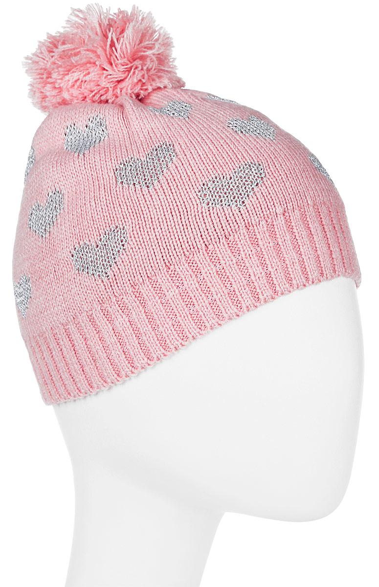 Шапка для девочки Tom Tailor, цвет: розовый. 0221658.00.81_5480. Размер 50/52 lacoste белые женские футболки