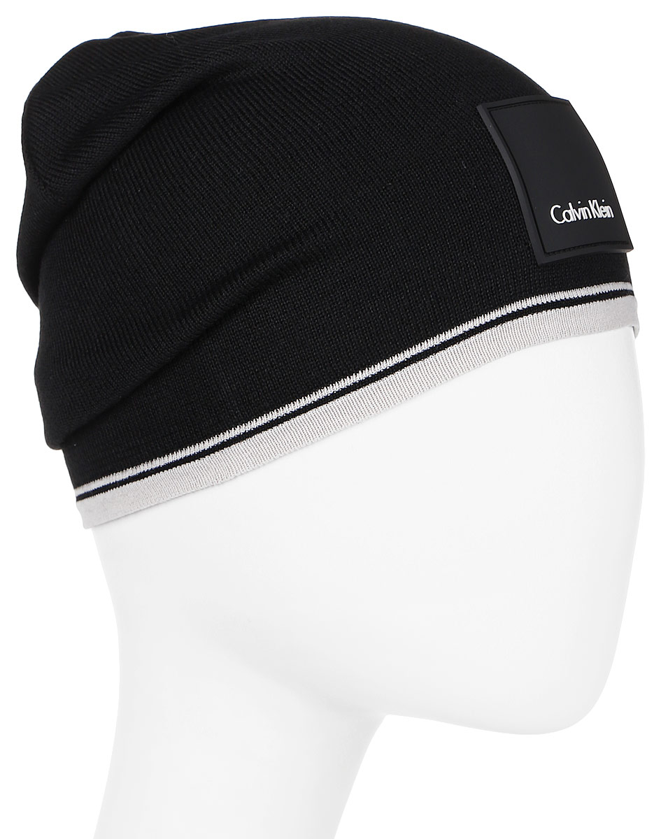 Шапка мужская Calvin Klein Jeans, цвет: черный, молочный. K50K503103_901. Размер универсальныйK50K503103_901