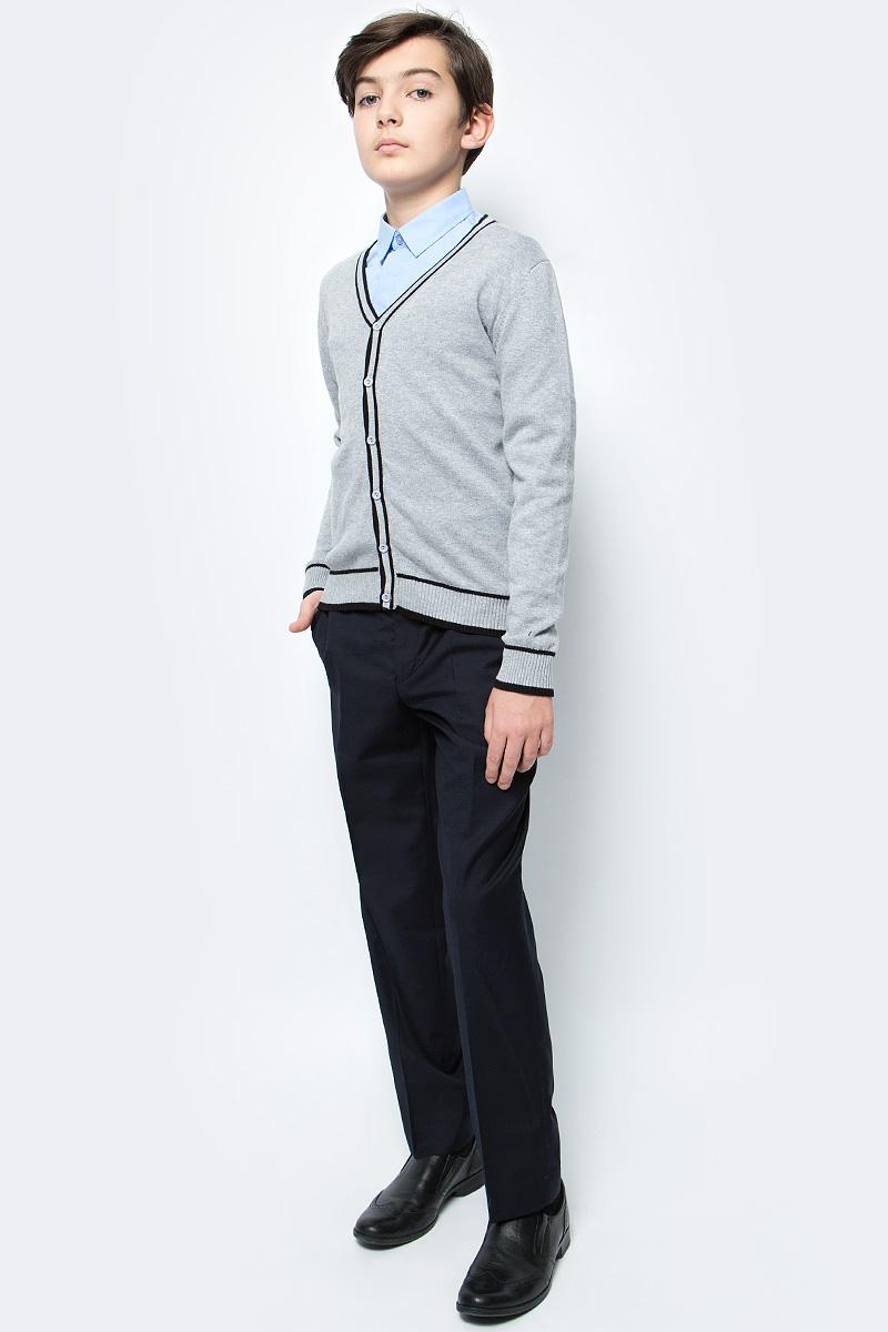 Кардиган для мальчика Vitacci, цвет: серый. 1173005-02. Размер 1521173005-02Кардиган для мальчика выполнен из 100% хлопка. Модель с длинными рукавами застегивается на пуговицы.