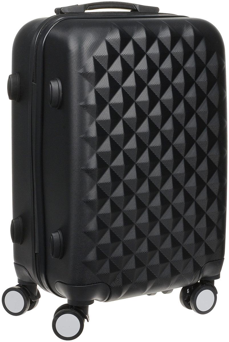 Чемодан  Proffi , на колесах, цвет: черный, 36 х 26 х 56 см, 45 л. PH8367 - Чемоданы и аксессуары
