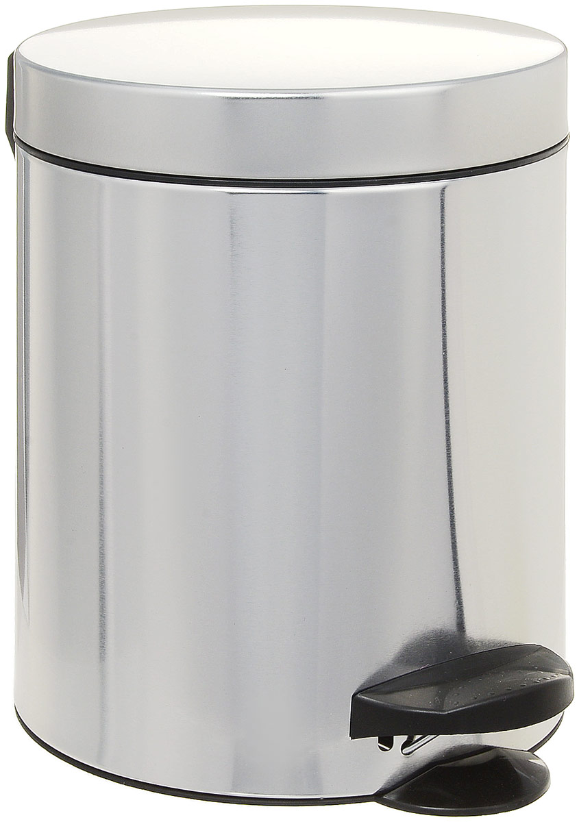 Мусорное ведро Meliconi, цвет: матовый стальной, 5 л4100Ведро для мусора Meliconi отличается практичностью в использовании и простотой в уходе. Благодаря небольшим габаритам прекрасно подойдет для ванной комнаты, туалета или кухни. Изготовлено из высококачественной матовой стали. Благодаря использованию качественных и прочным материалов туба ведра и крышка при нажатии не проминаются и не выгибаются. Защитое покрытие предохраняет поверхность изделия от разводов и отпечатков пальцев. Ведро оснащено отдельным внутренним пластиковым ведерком, которое обеспечивает удобную очистку и вынос мусора. Благодаря точному механизму крышка ведра открывается легко и плавно при нажатии на педаль, закрывается бесшумно и плотно, исключая попадание запахов в помещение. Пластиковое основание не позволяет ведру скользить по полу, защищая напольное покрытие от царапин и других повреждений. Стильный и лаконичный дизайн позволит ведру вписаться в любой интерьер.