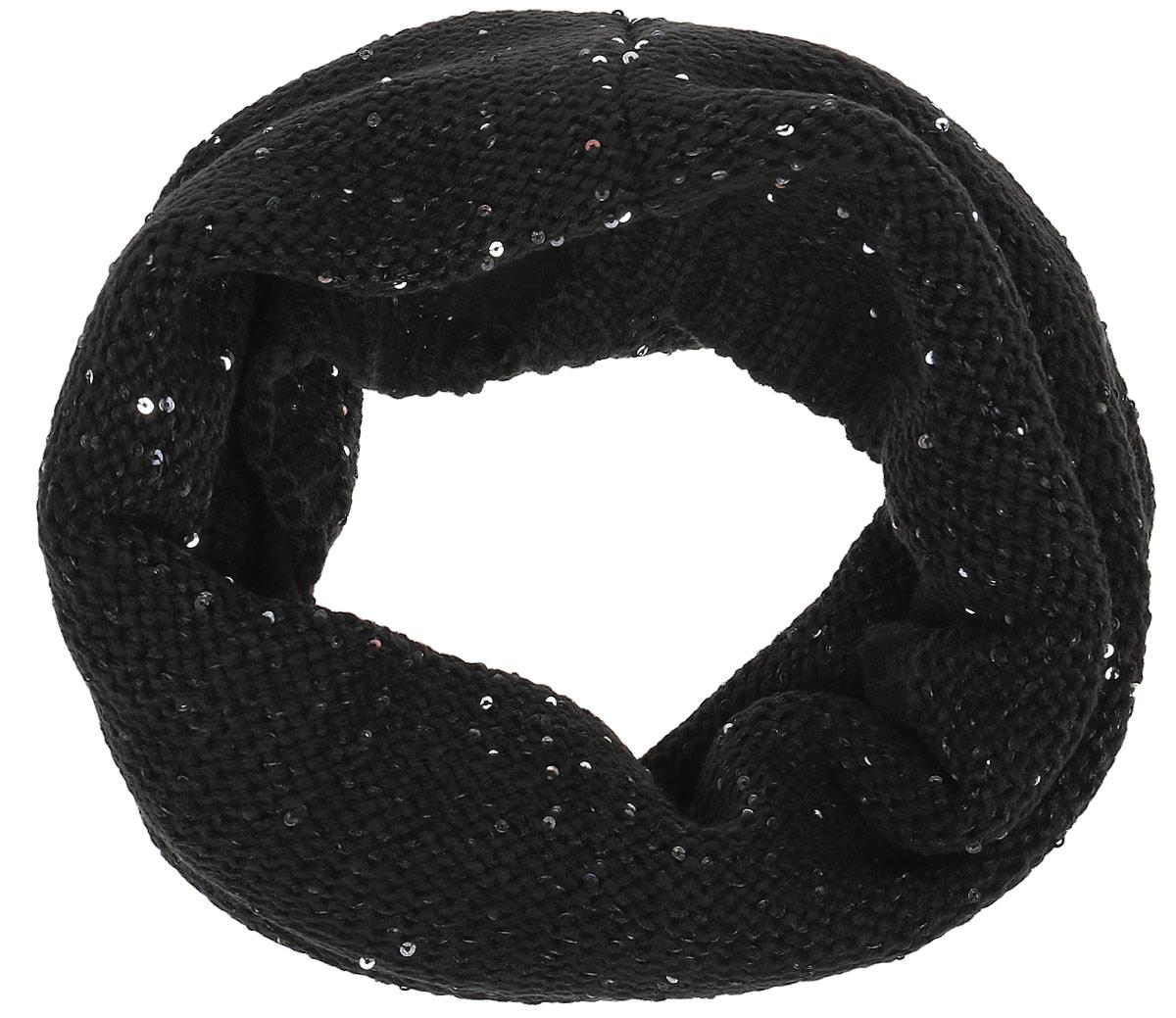 Шапка для девочки Tom Tailor, цвет: черный. 0221679.00.40_2999. Размер 320221679.00.40_2999