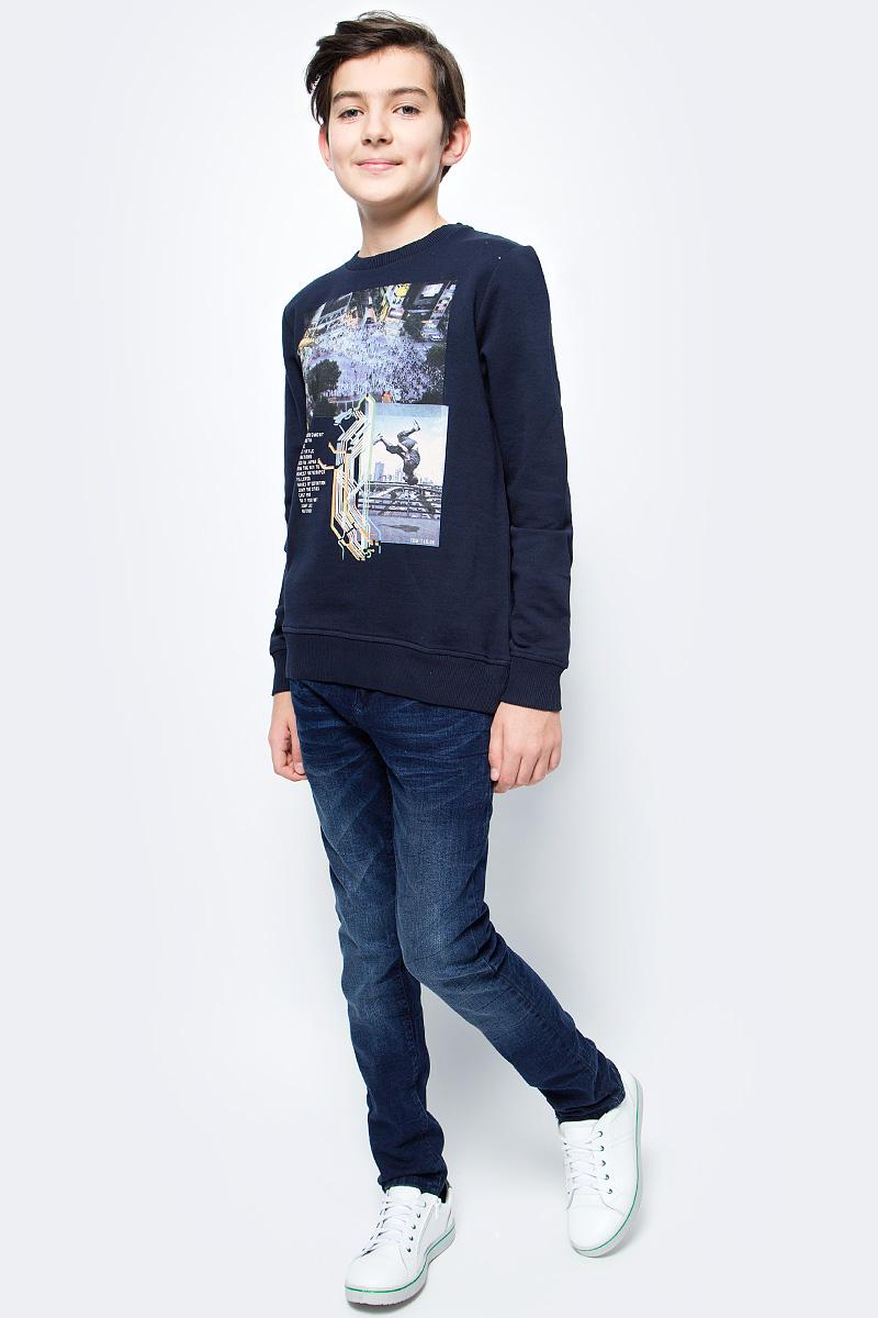 Джинсы для мальчика Tom Tailor, цвет: синий. 6205894.00.30_1097. Размер 1766205894.00.30_1097Стильные джинсы для мальчика выполнены из элатичного хлопка. Модель застегивается на пуговицу и молнию. Пояс выполнен со шлевками.Джинсы классической модели станут прекрасным дополнением к гардеробу вашего ребенка!
