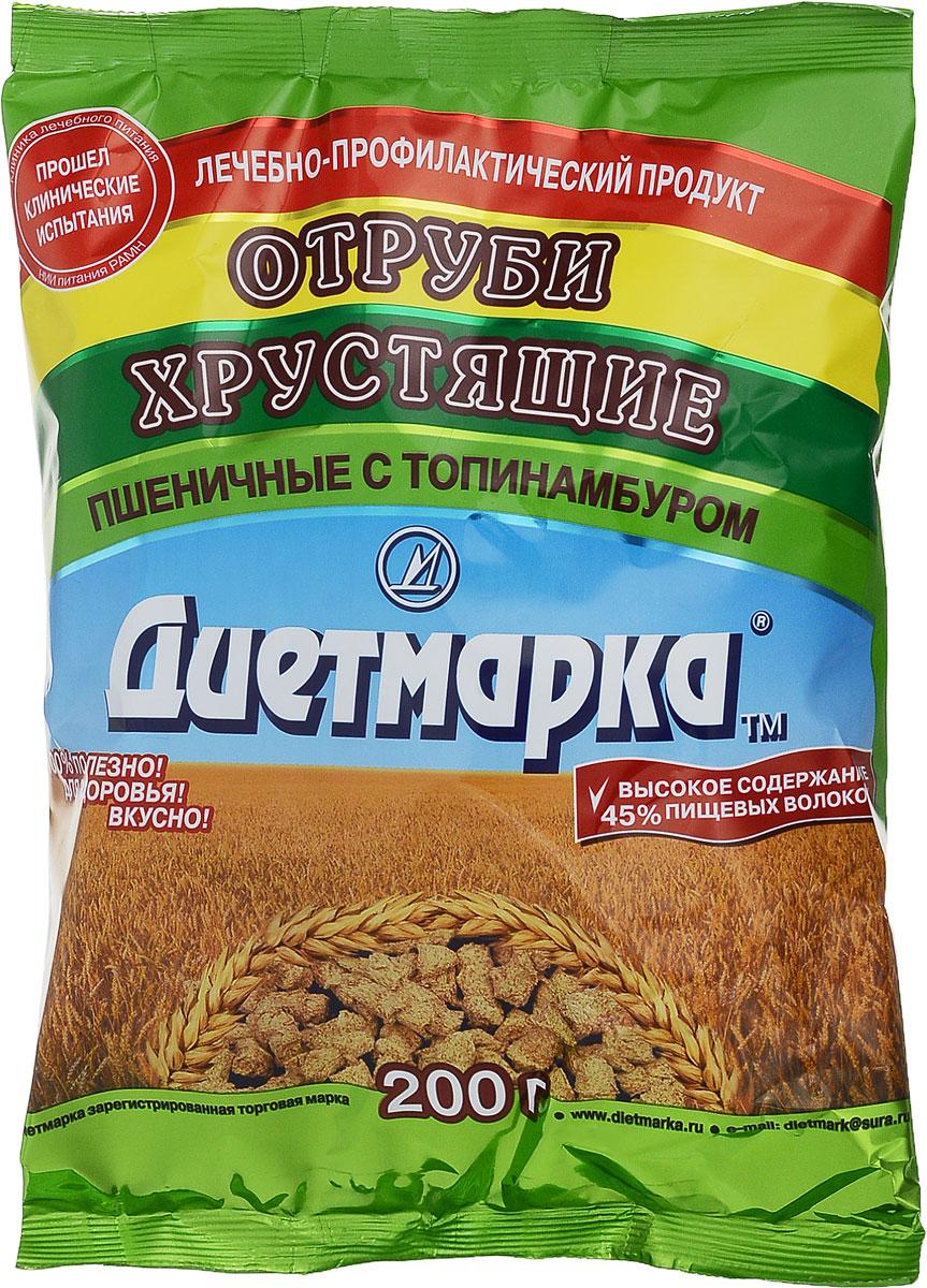 Диет Марка отруби хрустящие пшеничные с топинамбуром, 200 г сибирские отруби хрустящие сила ягод 100 г