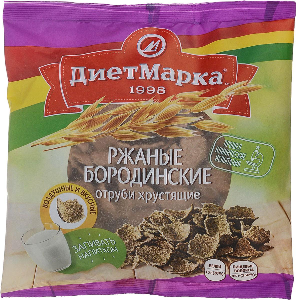Диет Марка отруби хрустящие №28 ржаные бородинские, 100 г сибирские отруби хрустящие сила ягод 100 г