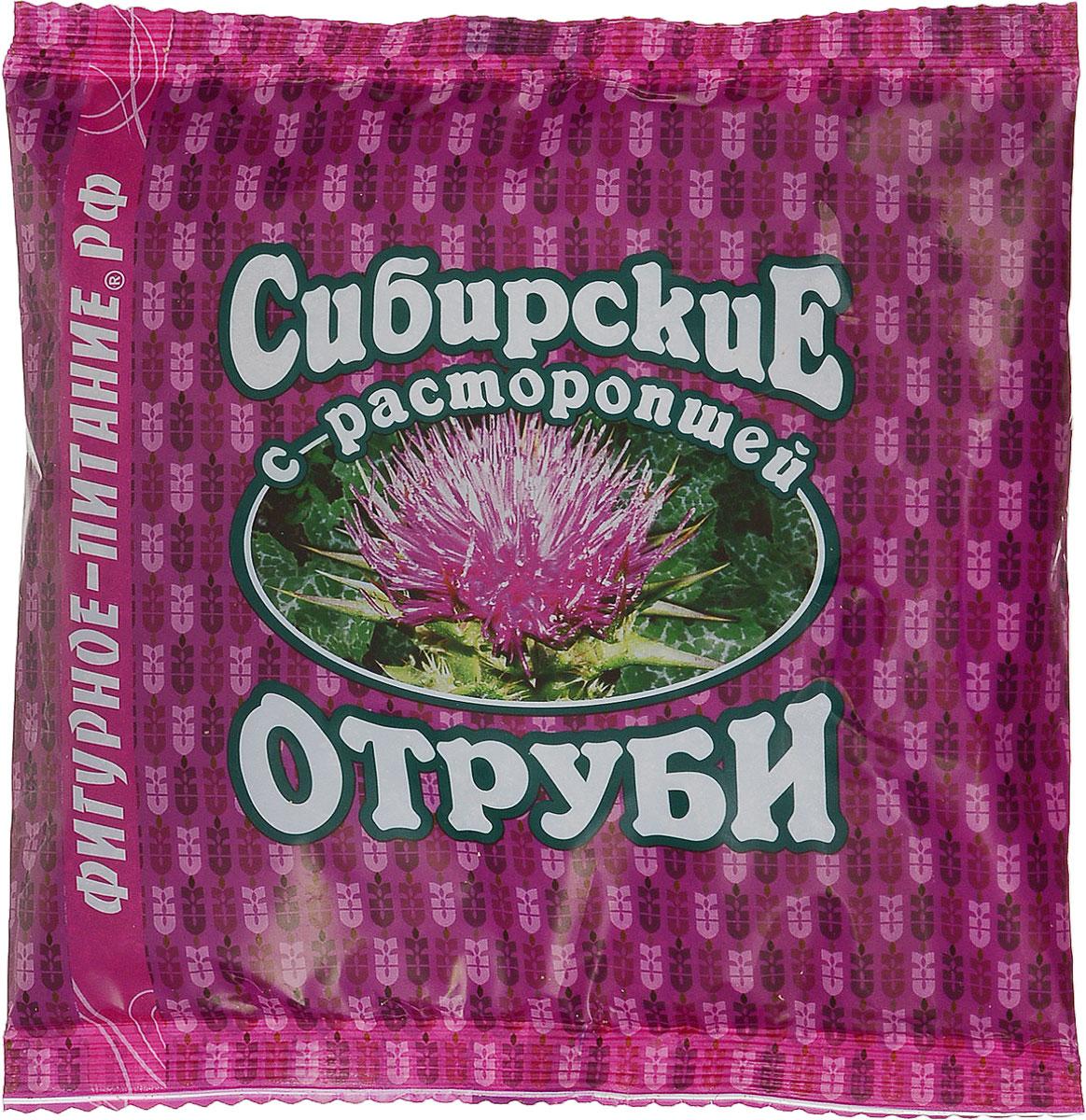 Сибирские отруби пшеничные с расторопшой, 200 г компас здоровья с имбирем отруби овсяные 200 г
