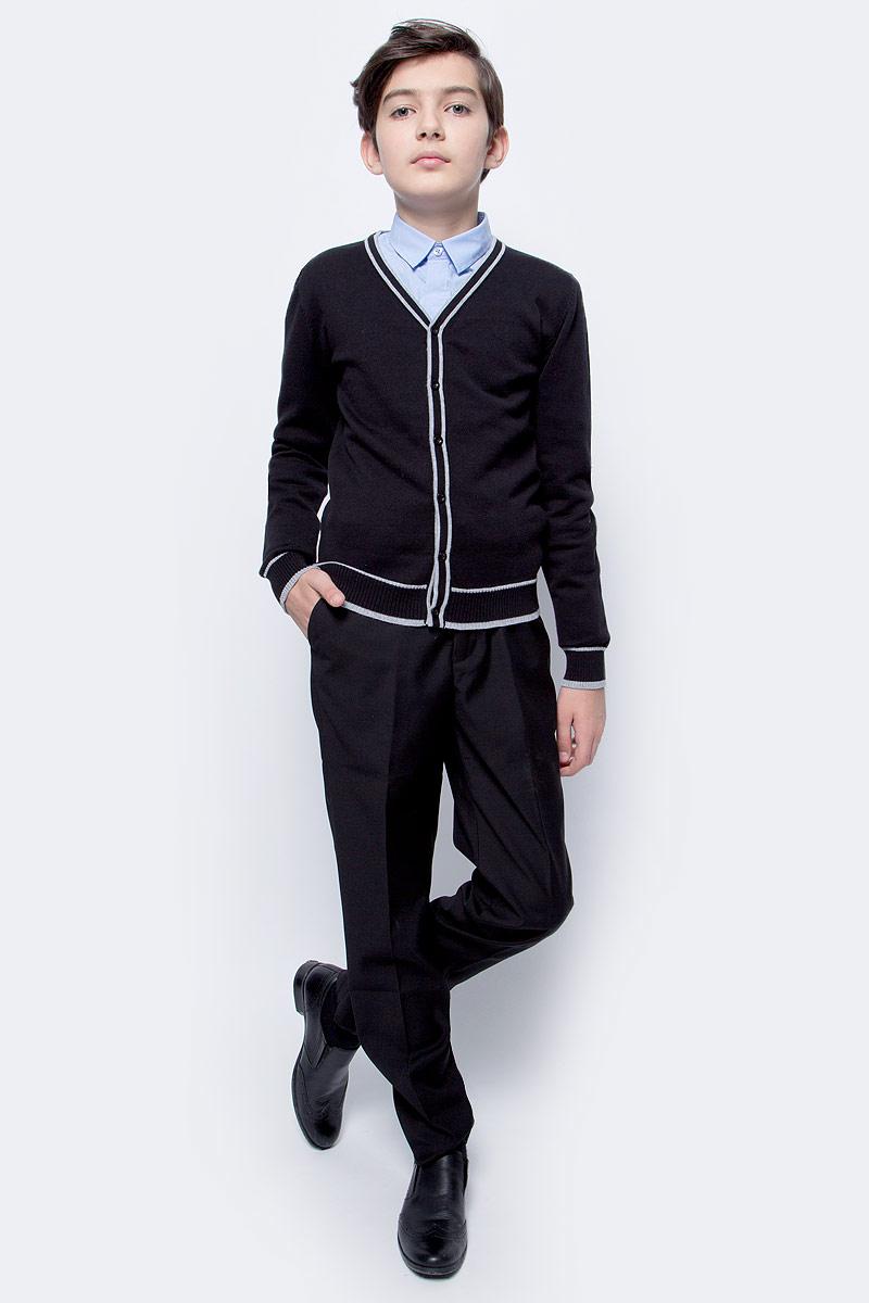 Брюки для мальчика Vitacci, цвет: черный. 1173032М-03. Размер 1581173032М-03Классические школьные брюки выполнены из качественного материала. Модель застегивается на комбинированную застежку.