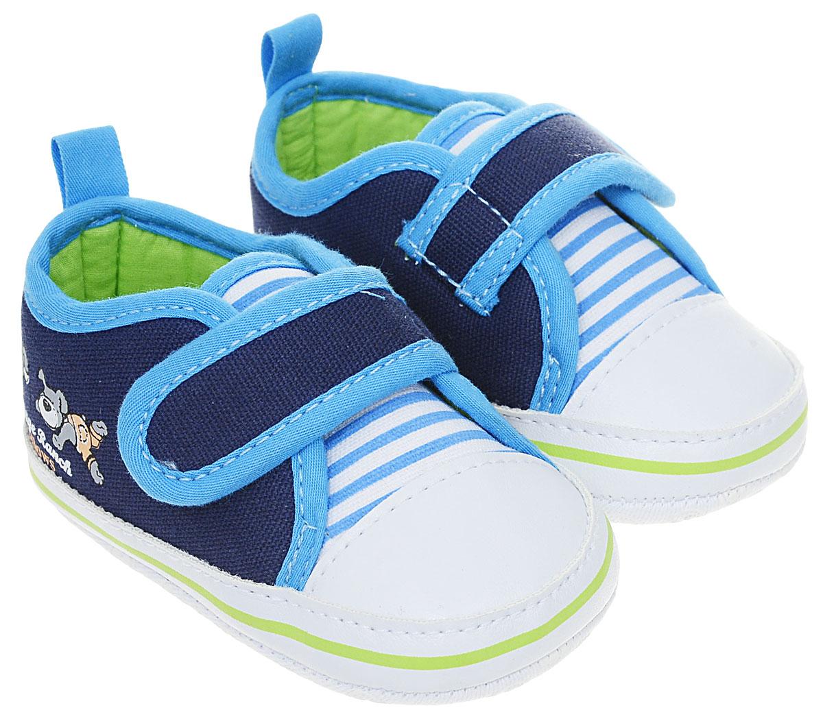Пинетки детские Flamingo, цвет: синий. 71Y-YXL-0077. Размер 1971Y-YXL-0077Оригинальные детские пинетки от Flamingo - это легкая и удобная обувь для малышей, которые еще не умеют или только учатся ходить. Модель выполнена из текстиля.