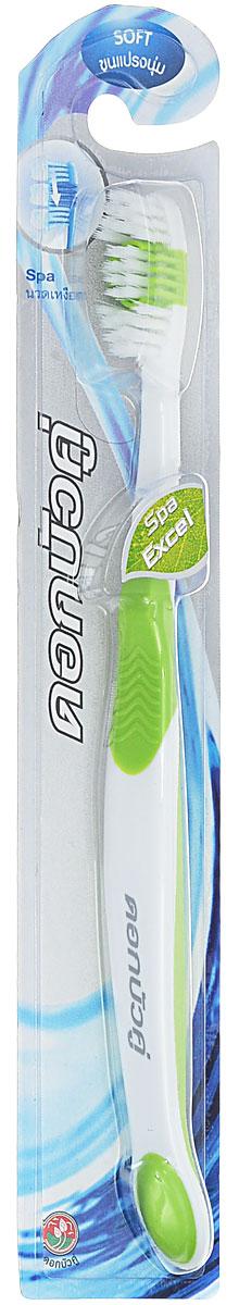 Twin Lotus Зубная щетка Спа эффект, мягкая, цвет: салатовый0020_салатовыйЗубная щетка Twin Lotus Спа эффект имеет многослойную щетину. Заостренные щетинки верхнего уровня позволяют эффективно чистить зубы в местах, наиболее пострадавших от налета и бактерий. Округлые щетинки нижнего уровня аккуратно удаляют поверхностные пятна с зубов. Более того, специальные щетинки, изготовленные из мягкой резины, помогают более глубокой очистки зубов и десен, и при этом мягко массируют десны. Товар сертифицирован.