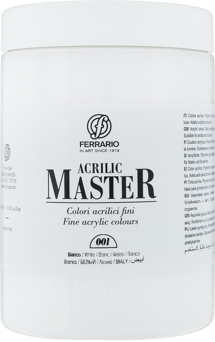 Ferrario Краска акриловая Acrilic Master цвет №01 белый BM0979E001BM0979E001Акриловые краски серии ACRILIC MASTER итальянской компании Ferrario. Универсальны в применении, так как хорошо ложатся на любую обезжиренную поверхность: бумага, холст, картон, дерево, керамика, пластик. При изготовлении красок используются высококачественные пигменты мелкого помола. Краска быстро сохнет, обладает отличной укрывистостью и насыщенностью цвета. Работы, сделанные с помощью ACRILIC MASTER, не тускнеют и не выгорают на солнце. Все цвета отлично смешиваются между собой и при необходимости разбавляются водой. Для достижения необходимых эффектов применяют различные медиумы для акриловой живописи. В серии представлено 50 цветов.
