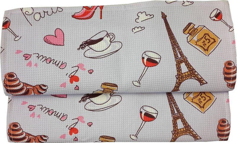 Полотенце кухонное Bonita Париж, вафельное, 35 х 61 см01300815844100% хлопокРазмер: полотенца 35*61