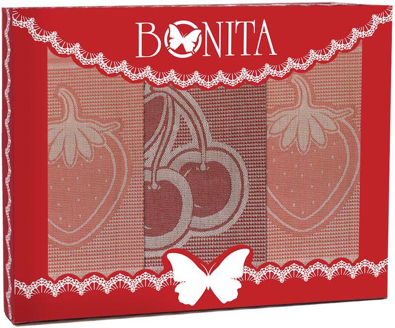 Набор кухонных полотенец Bonita Фруктовый коктейль, 3 шт11010116595100% хлопокРазмер: салфетка -3шт