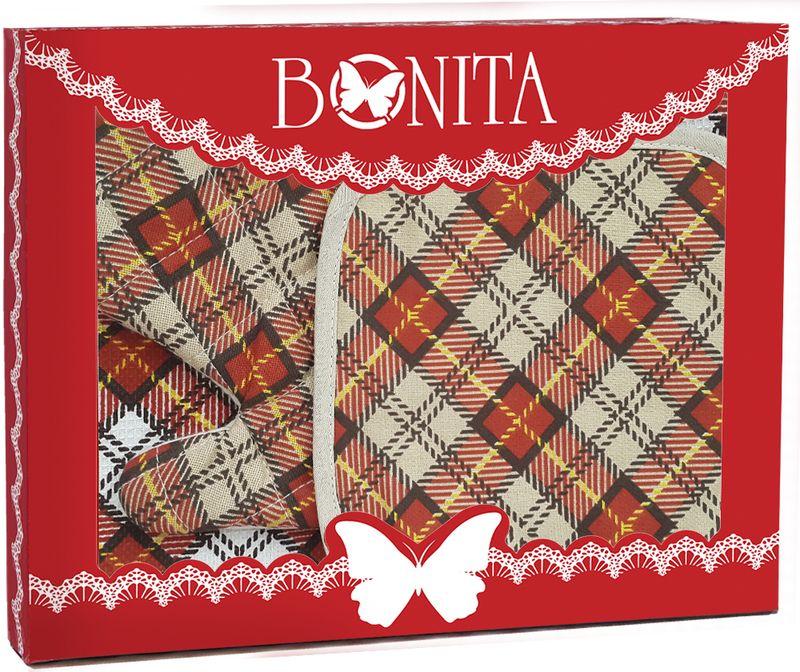 Подарочный набор для кухни Bonita Принц Уэльский, 3 предмета11010816820100% хлопокРазмер: рукавица 16*28, прихватка 17*17, полотенце 35*63Введенная в моду Принцем Уэльским, строгая, но, в то же время, изящная клетка в классических тонах сделает вашу кухню примером для подражания и иконой стиля.