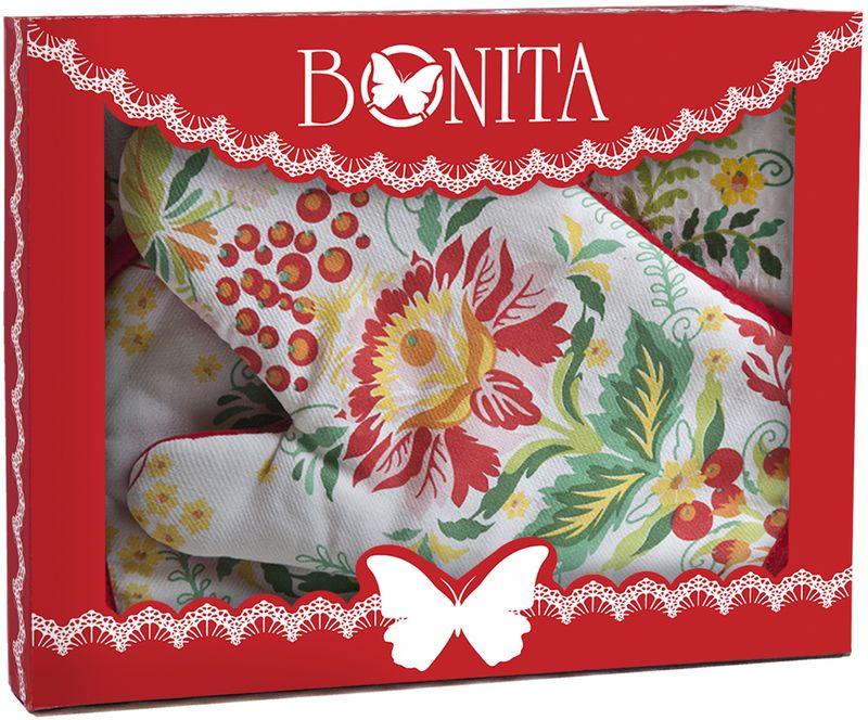 Подарочный набор для кухни Bonita Калинка, 3 предмета11010817029100% хлопокРазмер: полотенце 35*61, прихватка 18*18, рукавица 18*27