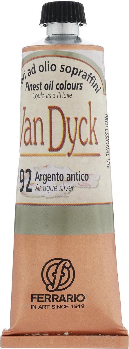 Ferrario Краска масляная Van Dyck цвет №92 серебро античноеAV1117CO92Масляные краски серии VAN DYCK итальянской компании Ferrario изготавливаются из натуральных мелко тертых пигментов с добавлением качественного связующего материала. Благодаря этому масляные краски VAN DYCK обладают превосходной светостойкостью, чистотой цветов и оттенков. Краски можно разбавлять льняным маслом, терпентином или нефтяными разбавителями. Все цвета хорошо смешиваются между собой. В серии масляных красок VAN DYCK представлено 87 различных оттенков, а также 6 металлических оттенков. Дополнительные характеристики:– Изготавливаются из натуральных мелко тертых пигментов с добавлением качественного связующего материала;– Краски хорошо смешиваются между собой;