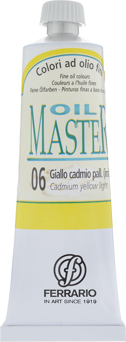 Ferrario Краска масляная Oil Master цвет №06 кадмий желтый светлыйAM0030CO006Масло OIL MASTER итальянской компании Ferrario подходит как начинающим художникам, так и профессионалам. Краска изготавливается из светостойких пигментов мелкого помола. Благодаря тому, что некоторые натуральные пигменты были заменены на аналоги краски серии OIL MASTER стали более доступны по цене. Светостойкие краски отлично лессируются и хорошо смешиваются между собой. Краску можно разбавлять льняным маслом, терпентином или нефтяными разбавителями. В работе с красками используют кисти из щетины, синтетики и волоса колонка. Серия состоит из 50 цветов.