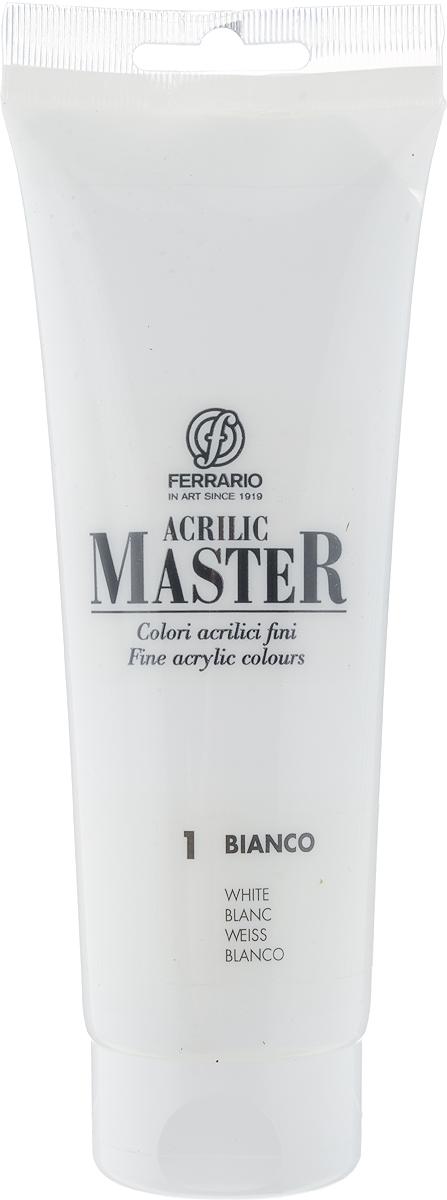 Ferrario Краска акриловая Acrilic Master цвет №1 белила - Краски