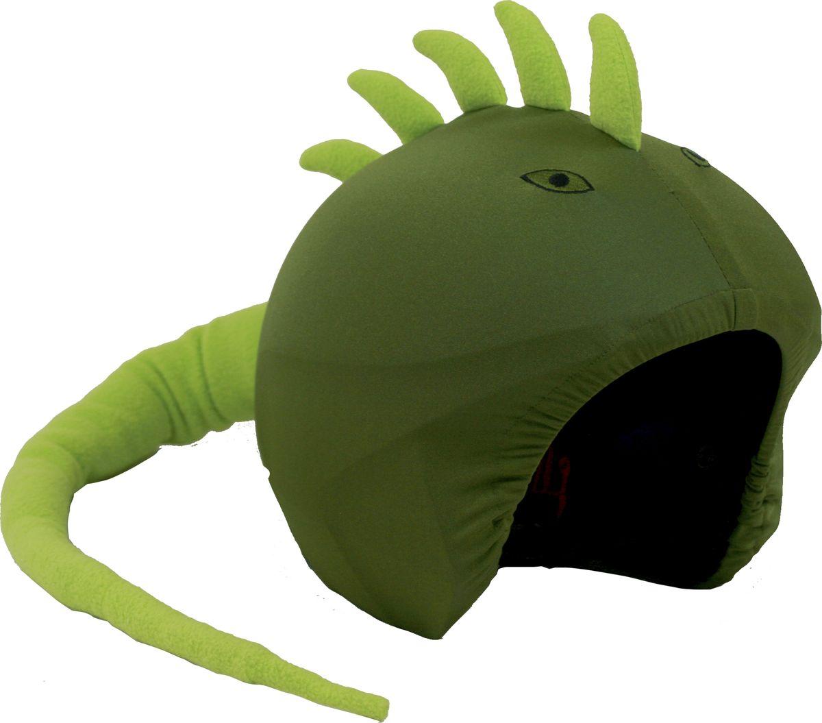 Нашлемник CoolCasc  Iguana. Игуана , цвет: зеленый - Аксессуары и защита
