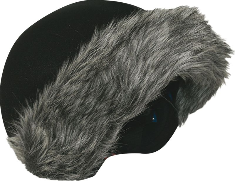Нашлемник CoolCasc  Grey Fur. Серый мех , цвет: серый, черный - Аксессуары и защита