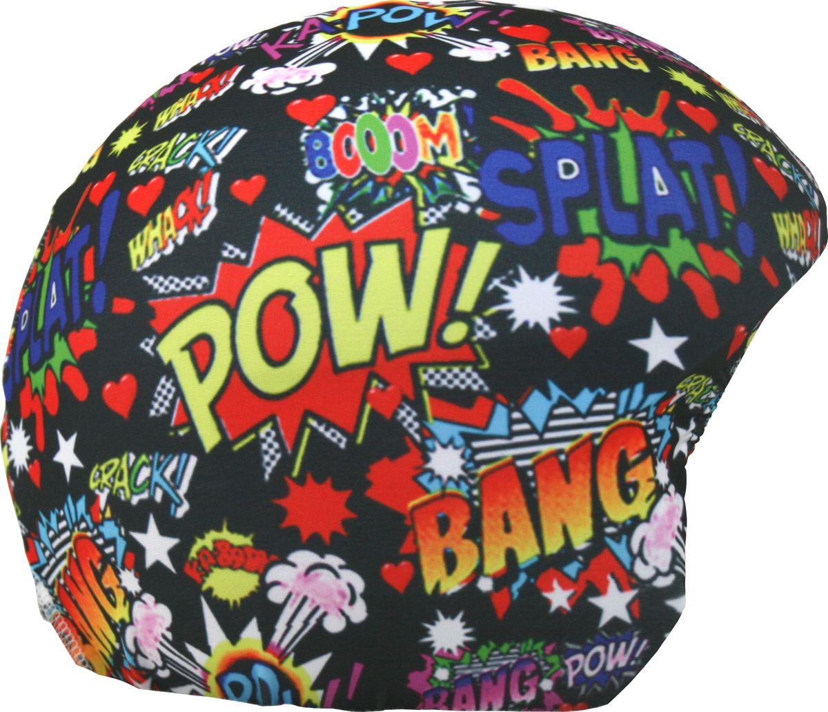 Нашлемник CoolCasc Boom. Бум!, цвет: черный, синий, красныйУТ-00007778Стильный нашлемник CoolCasc для спортивного шлема предназначен для занятий спортом (сноуборд, горные лыжи, велосипед) и развлечений. Легко надевается, защищает шлем от царапин. Размер - универсальный.Нашлемник CoolCasc поможет подчеркнуть вашу индивидуальность и выделит вас среди окружающих.Состав: 83% нейлон, 17% спандекс.