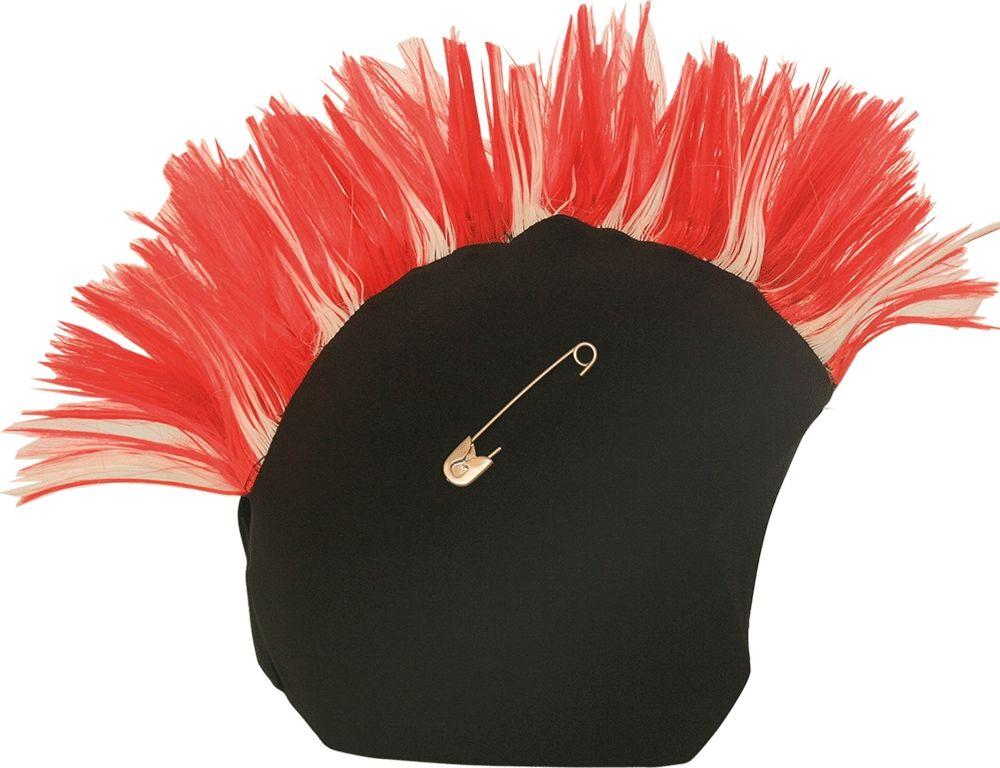 Нашлемник CoolCasc Camden  Punk. Панк , цвет: красный, черный - Аксессуары и защита