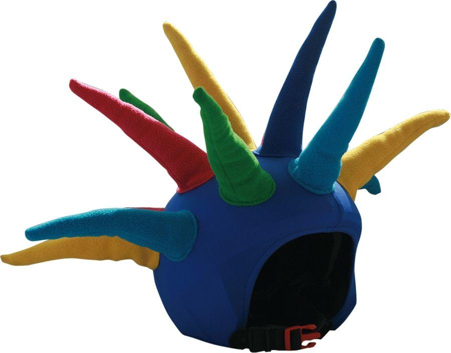 Нашлемник CoolCasc Spike. Шипы, цвет: синий, красный, желтыйУТ-00007787Стильный нашлемник CoolCasc для спортивного шлема предназначен для занятий спортом (сноуборд, горные лыжи, велосипед) иразвлечений. Легко надевается, защищает шлем от царапин. Размер - универсальный. Нашлемник CoolCasc поможет подчеркнуть вашу индивидуальность и выделит вас среди окружающих.Состав: 83% нейлон, 17% спандекс.Что взять с собой на горнолыжную прогулку: рассказывают эксперты. Статья OZON Гид