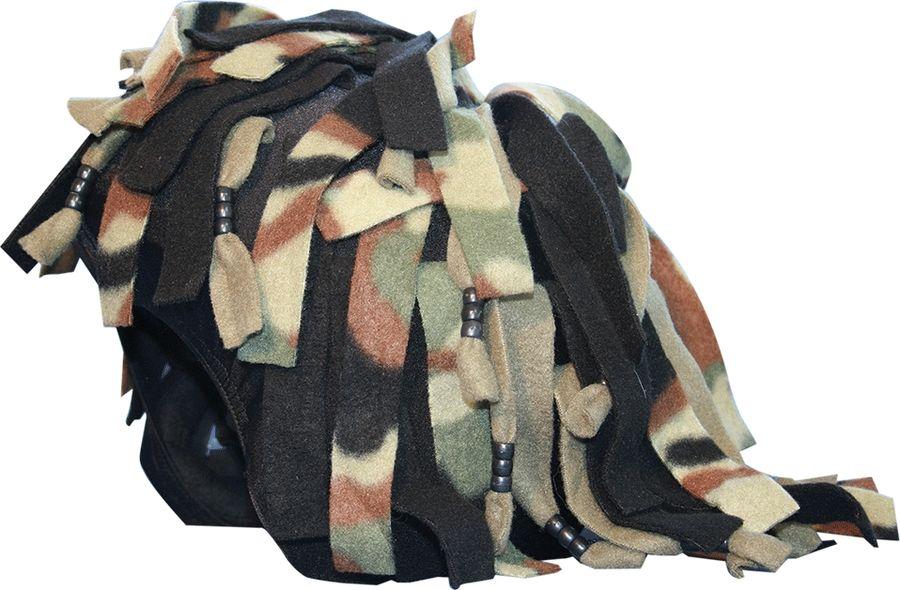 Нашлемник CoolCasc  Camouflage Rastafarian. Камуфляж , цвет: черный, серый, хаки - Аксессуары и защита