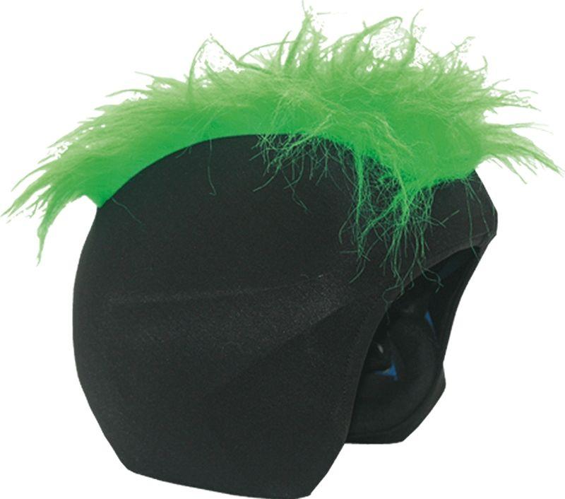 Нашлемник CoolCasc  Furry green. Зеленый мех , цвет: черный, зеленый - Аксессуары и защита