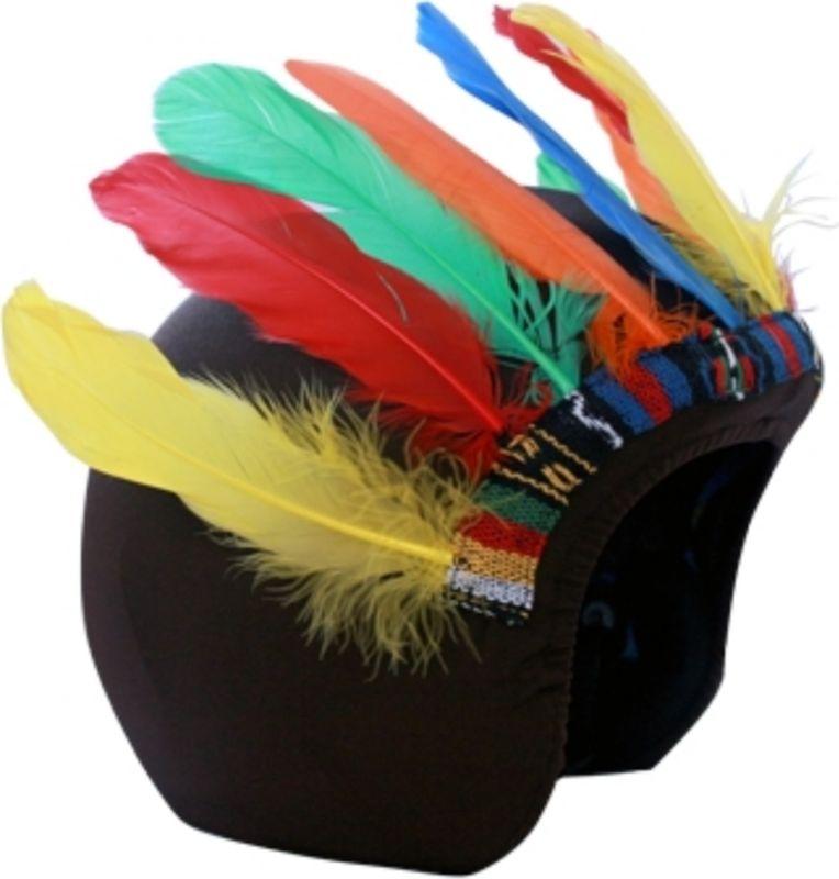 Нашлемник CoolCasc Indian. Индеец, цвет: черный, красный, синийУТ-00007807Стильный нашлемник CoolCasc для спортивного шлема предназначен для занятий спортом (сноуборд, горные лыжи, велосипед) и развлечений. Легко надевается, защищает шлем от царапин. Размер - универсальный.Нашлемник CoolCasc поможет подчеркнуть вашу индивидуальность и выделит вас среди окружающих.Состав: 83% нейлон, 17% спандекс.