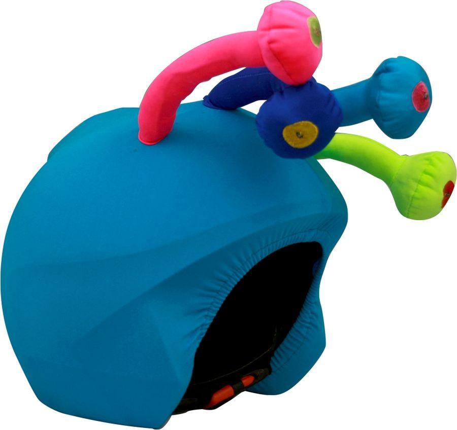 Нашлемник CoolCasc Monster. Монстр, со светодиодами, цвет: синийУТ-00007814Стильный нашлемник со светодиодами CoolCasc для спортивного шлема предназначен для занятий спортом (сноуборд, горные лыжи, велосипед) и развлечений. Легко надевается, защищает шлем от царапин. Размер - универсальный.Нашлемник CoolCasc поможет подчеркнуть вашу индивидуальность и выделит вас среди окружающих. Состав: 83% нейлон, 17% спандекс.