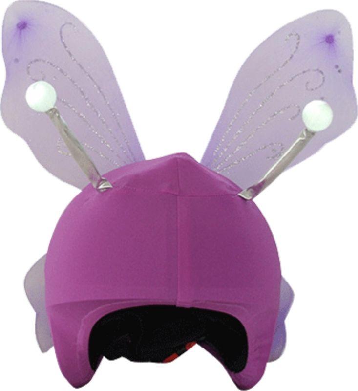 Нашлемник CoolCasc Fairy. Фея, со светодиодами, цвет: сиреневыйУТ-00007818Стильный нашлемник CoolCasc для спортивного шлема предназначен для занятий спортом (сноуборд, горные лыжи, велосипед) и развлечений. Легко надевается, защищает шлем от царапин. Размер - универсальный.Нашлемник CoolCasc поможет подчеркнуть вашу индивидуальность и выделит вас среди окружающих.Состав: 83% нейлон, 17% спандекс.