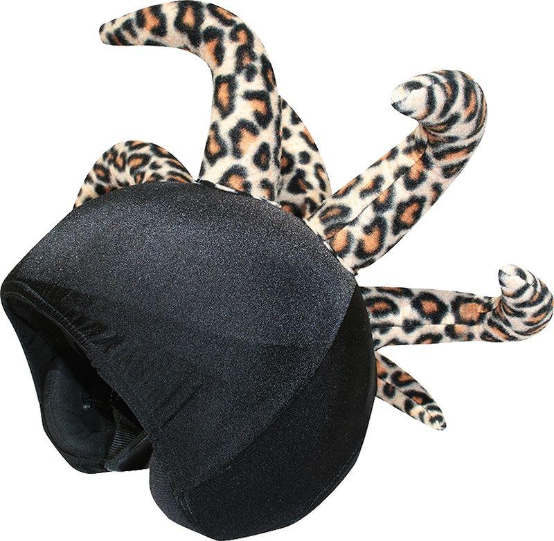 Нашлемник CoolCasc Leopard Clown. Леопард, цвет: черныйУТ-00007820Стильный нашлемник CoolCasc для спортивного шлема предназначен для занятий спортом (сноуборд, горные лыжи, велосипед) и развлечений. Легко надевается, защищает шлем от царапин. Размер - универсальный.Нашлемник CoolCasc поможет подчеркнуть вашу индивидуальность и выделит вас среди окружающих. Состав: 83% нейлон, 17% спандекс.