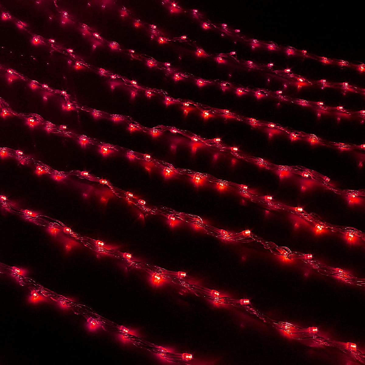 Гирлянда светодиодная Luazon Дождь, цвет: красный, 800 ламп, 8 режимов, 220 V, 2 х 3 м. 671642671642Светодиодные гирлянды и ленты — это отличный вариант для новогоднего оформления интерьера или фасада. С их помощью помещение любого размера можно превратить в праздничный зал, а внешние элементы зданий, украшенные ими, мгновенно станут напоминать очертания сказочного дворца. Такие украшения создают ауру предвкушения чуда. Деревья, фасады, витрины, окна и арки будто специально созданы, чтобы вы украсили их светящимися нитями.