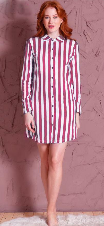 Халат женский Vienettas Secret Полоска, цвет: розовый. 609123 0000. Размер XL (50)609123 0000