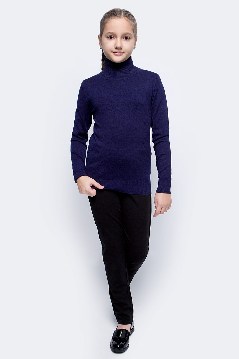 Брюки для девочки Vitacci, цвет: черный. 2173120L-03. Размер 1402173120L-03Классические школьные брюки для девочки выполнены из качественного материала. Просторная модель оригинального кроя на широком поясе.