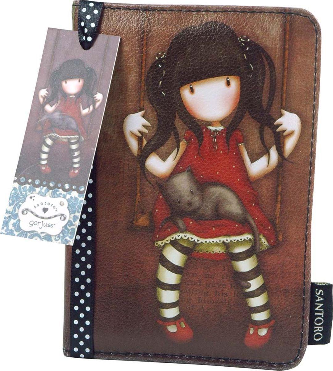 Обложка для паспорта для девочки Santoro Ruby, цвет: коричневый. 0012079ПолиэстерВ любом путешествии важно бережно хранить две вещи: себя и документы. Мы верим в то, что ты сохранишь себя такой, какая ты есть. Для сохранения остального есть оригинальная обложка на паспорт Gorjuss «Ruby». Внутри обложки есть специальные кармашки для хранения карточек-визиток, и прочих необходимых в путешествии важностей.