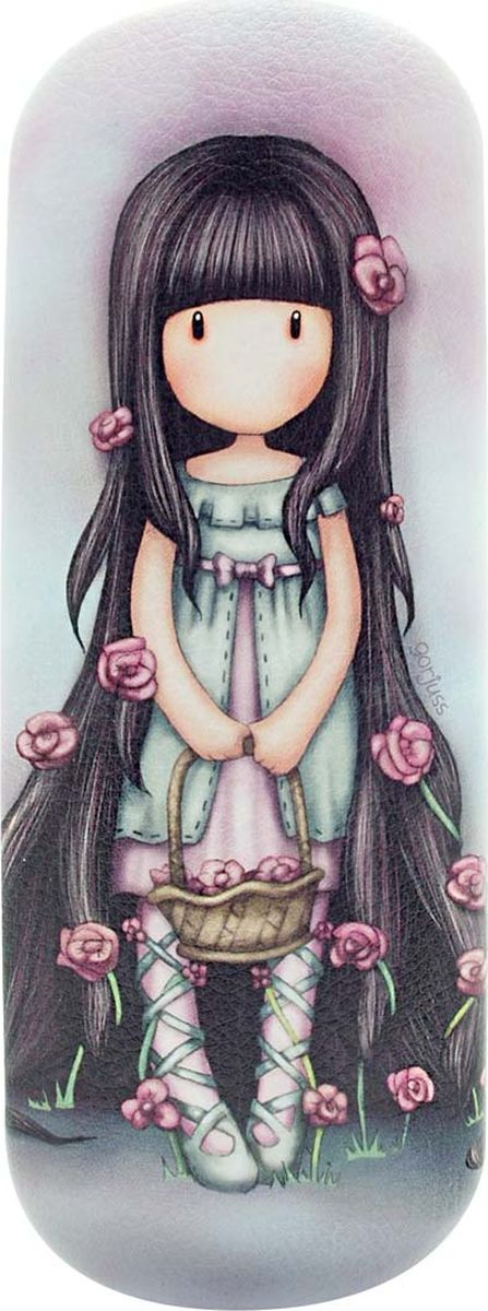 Футляр для очков для девочки Santoro Gorjuss Rosie, цвет: фиолетовый. 0013315 santoro ручка шариковая gorjuss slim metal pen the collector цвет чернил синий