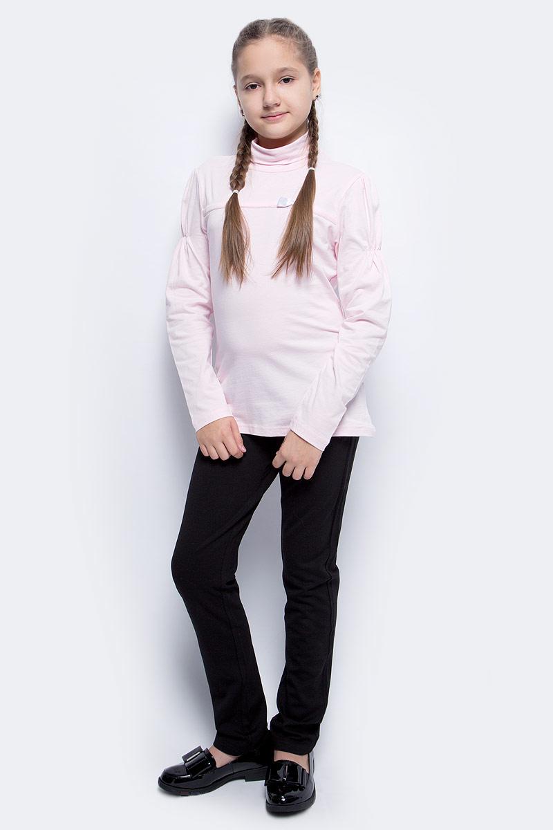 Водолазка для девочки LeadGen, цвет: розовый. G935006616-172. Размер 164G935006616-172Водолазка для девочки LeadGen выполнена из эластичного хлопкового трикотажа. Модель с длинными рукавами и воротником-гольф на груди оформлена лаконичным бантиком. Рукава на плечах присборены.